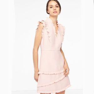 Sandro Pink Girly Ruffled Mini Dress